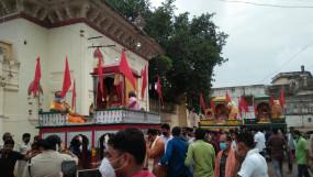 पन्ना में निकाली गई भगवान जगन्नाथ की रथयात्रा -सीएम के आदेश पर मिली अनुमति , लगाया गया कर्फ्यू