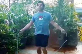 संदेश: सचिन तेंदुलकर ने रोप स्किपिंग वीडियो शेयर कर कहा, अपने आप को फिट और स्वस्थ रखें