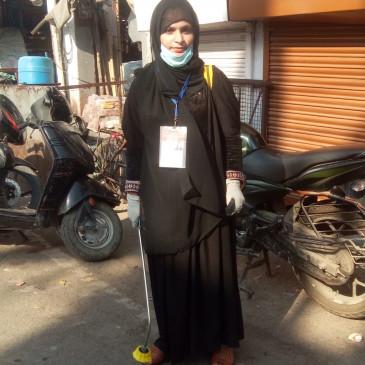 कोरोना योद्घा उज्मा के जज्बे को सलाम, मुस्लिम समाज के लिये नजीर