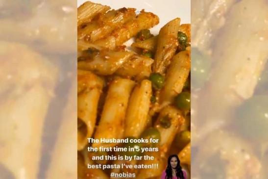 शाहिद पहली बार पत्नी मीरा के लिए खाना बनाया
