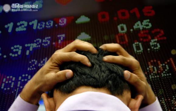 Share market: सेंसेक्स 708 अंक लुढ़का, निफ्टी 9,902 के नीचे बंद हुआ