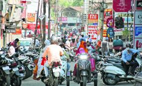 ऑड-इवन डेट फार्मूले पर खुलीं नागपुर शहर की मुख्य बाजारों की दुकानें