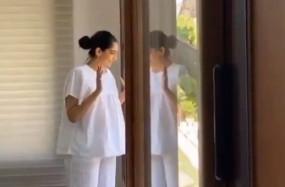 सोनम कपूर ने वर्कआउट करते समय गाना गाया, पति ने वीडियो साझा किया