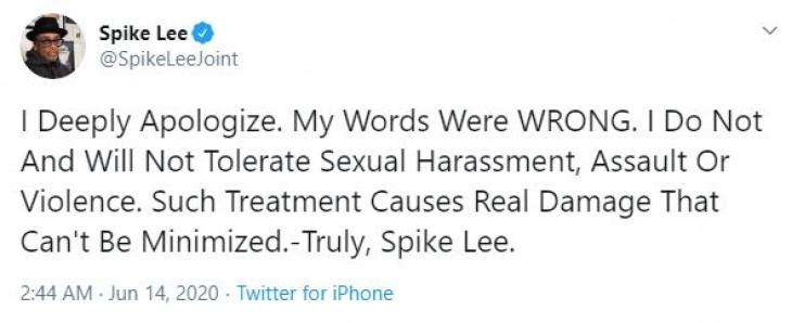 स्पाइक ली ने वूडी एलन का बचाव करने के लिए माफी मांगी