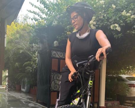 साइकिलिंग के प्रति ताहिरा कश्यप ने बयां किया अपना प्यार