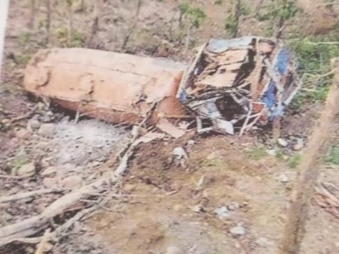 रमनपुर घाटी के पास  सौ फीट गहरी खाई में गिरा ट्रक, चालक की मौत