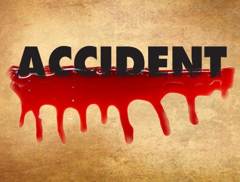 दिल्ली में हुई दुर्घटना में दो लोगों की मौत