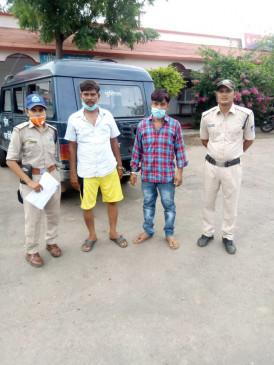 अवैध शराब के साथ दो तस्कर गिरफ्तार