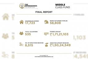 विजय देवरकोंडा ने मिडिल क्लास फंड से 17 हजार परिवारों की मदद की