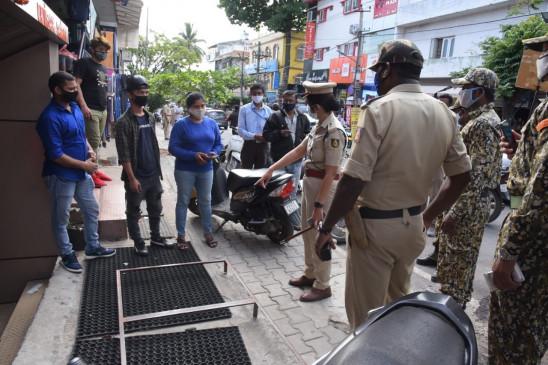 बेंगलुरु में कोरोनावायरस प्रोटोकॉल का उल्लंघन करने वालों को चेतावनी