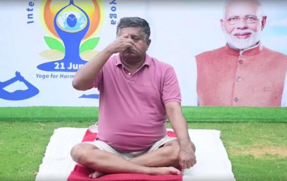 योग भारत की विरासत है : रविशंकर प्रसाद