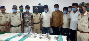 पेट्रोल पम्प लूटने की योजना बना रहे रीवा-सतना के हिस्ट्रीसीटरों के साथ 10 बदमाश गिरफ्तार