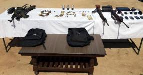 जम्मू-कश्मीर के राजौरी में हथियार, गोला-बारूद बरामद