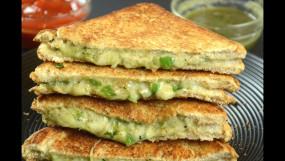 चिली चीज सैंडविच: ऐसे बनाएं ऊपर से क्रिस्पी अंदर से क्रीमी सैंडविच, जानें रेसिपी