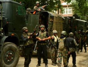 जम्मू एवं कश्मीर में सुरक्षा बलों और आतंकवादियों के बीच मुठभेड़
