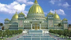 Fake news: अयोध्या के राम मंदिर का मॉडल बताकर सोशल मीडिया पर शेयर किया जा रहा है इस्कॉन मंदिर के मॉडल का फोटो