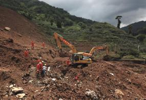चीन: भारी बारिश से भूस्खलन, 9 लोग जिंदा दफन,बचाव अभियान जारी