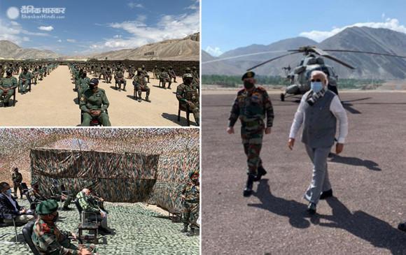 PM Leh Visit: चीन से तनातनी के बीच लेह पहुंचे पीएम मोदी, CDS रावत के साथ मौजूदा हालातों का जायजा लिया