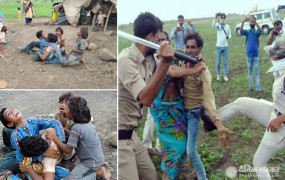 गुना: अतिक्रमण हटाने के नाम पर पुलिस ने दंपती पर भांजी लाठियां, बिलखते रहे बच्चे, सीएम ने कलेक्टर और एसपी को हटाया