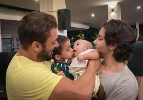 सलमान ने अपने भतीजे-भतीजी के साथ फोटो पोस्ट की