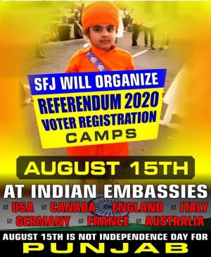 एसएफजे की 7 देशों में भारतीय मिशनों के बाहर रेफरेंडम 2020 कैम्प लगाने की योजना (आईएएनएस विशेष)