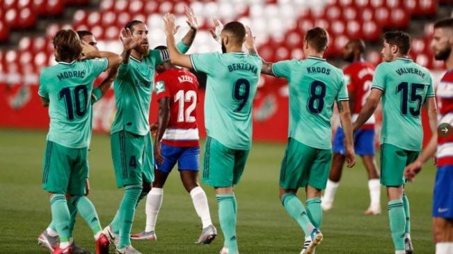 La Liga: रियाल मैड्रिड 34वीं बार चैंपियन बनने से अब सिर्फ एक जीत दूर, ग्रेनाडा को 2-1 से हराया