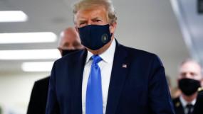 कोरोना संकट: पहली बार मास्क पहने नजर आए अमेरिकी राष्ट्रपति ट्रंप