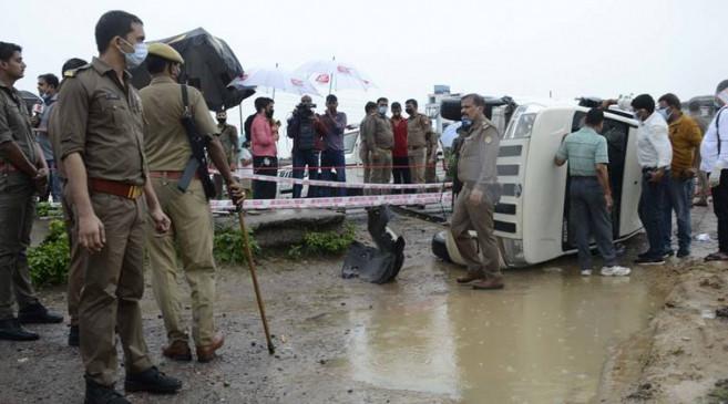 Vikas Dubey Encounter: STF ने बताई एनकाउंटर की पूरी कहानी, कहा- भारी बारिश और रास्ते में गाय-भैसों के झुंड को बचाने में पलटी गाड़ी