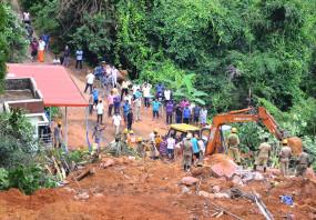 कर्नाटक के कोडागु में भारी बारिश के बाद भूस्खलन में 5 लापता