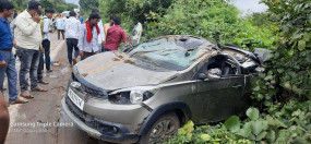 भंडारा : कार - दुपहिया की भिड़ंत में तीन युवकों की मौत