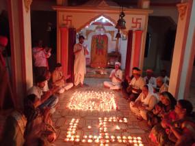 राम मंदिर के भूमि पूजन उत्सव पर हुआ भंडारा