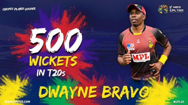 CPL 2020: आईपीएल-2020 से पहले ड्वेन ब्रावो ने रचा इतिहास, टी-20 क्रिकेट में 500 विकेट लेने वाले पहले गेंदबाज बने