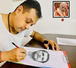 Fake news: भाजपा प्रवक्ता संबित पात्रा ने राहुल गांधी का स्कैच बनाया, जानें क्या है वायरल फोटो का सच