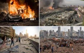 धमाकों से दहला बेरूत: खंडहर में तब्दील हुआ बंदरगाह, हर तरफ बिरखी लाशें, तस्वीरों में देखिए तबाही का मंजर