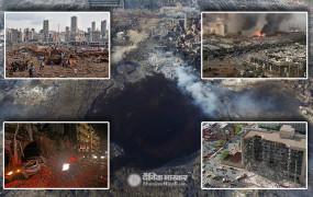 लेबनान: राजधानी बेयरूत में दो जबदस्त धमाके, आधे शहर में बिखरी लाशें, अब तक 73 की मौत और 3700 से ज्यादा घायल, देखें तबाही का मंजर