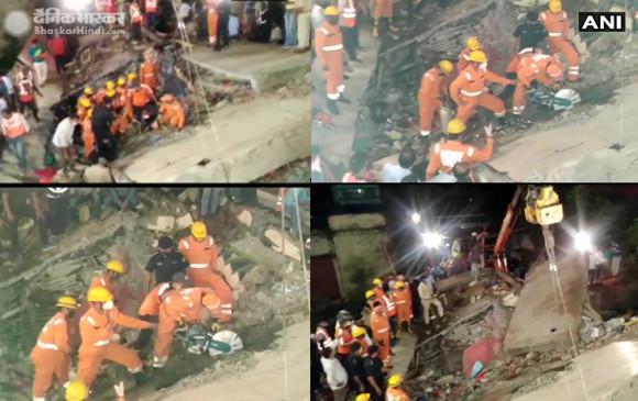 मध्य प्रदेश: देवास में दो मंजिला मकान ढहा, दो लोगों की मौत, 9 लोग सुरक्षित निकाले गए