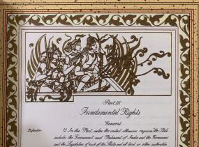 संविधान की मूल प्रति में भगवान राम की फोटो रवि शंकर प्रसाद ने साझा की