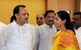 अजित पवार से मिली सुप्रिया सुले, पवार के बयान के बाद परिवार में नाराजगी !