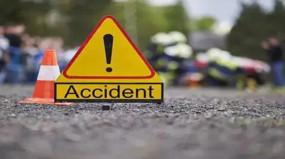 बेलगाम ट्रक ने बाइक सवार को रौंदा बुढ़ार रोड में हादसा, पत्नी व बच्चा जबलपुर रेफर