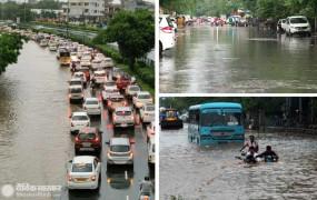 Weather Update: भारी बारिश ने दिल्ली-गुरुग्राम का किया बुरा हाल, कई इलाकों में भरा पानी, जगह-जगह ट्रैफिक जाम