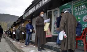 जम्मू-कश्मीर में कोरोना के 1249 मामले, संक्रमितों की संख्या 67 हजार पार