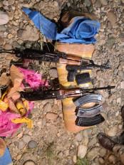 जम्मू-कश्मीर के अखनूर में ड्रोन से गिराए गए हथियार, गोला-बारूद बरामद