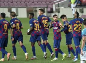 फुटबॉल: ट्रेनिंग पर लौटी बार्सिलोना, मेसी नहीं दिखे