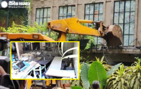 बीएमसी ने अवैध निर्माण को लेकर कंगना के ऑफिस पर चलाया बुलडोजर