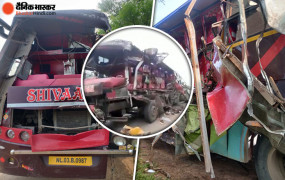 छत्तीसगढ़: रायपुर में सड़क हादसा, ट्रक-बस की टक्कर में 8 लोगों की मौत, सात घायल