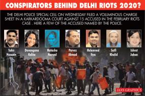 दिल्ली हिंसा मामला : पुलिस के आरोपपत्र में 15 लोगों के नाम (लीड-1)
