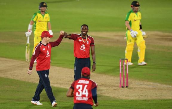 ENG VS AUS: इंग्लैंड ने पहले टी-20 मैच में ऑस्ट्रेलिया को 2 रन से हराया, सीरीज में 1-0 से बढ़त बनाई