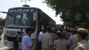 दिल्ली कांग्रेस का किसान मजदूर न्याय मार्च, पुलिस ने किया नाकाम