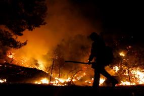 कैलिफोर्निया में जंगल में लगी आग बुझाने की कोशिश में दमकलकर्मी की मौत