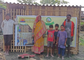 गुरुग्राम का एनजीओ बिहार बाढ़ पीड़ितों के पुनर्वास में कर रहा मदद